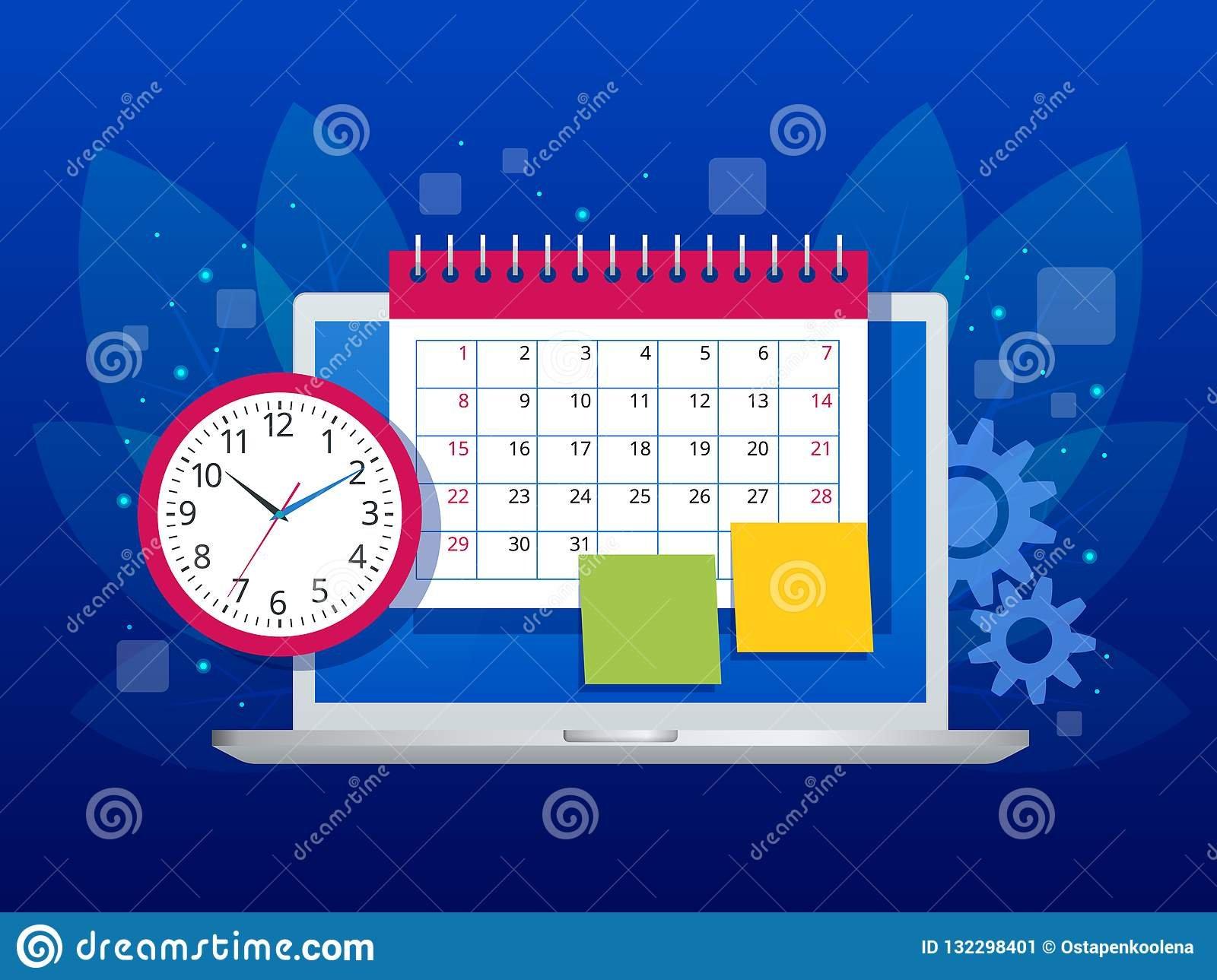Flat Weekly Schedule And Calendar Planner Organization Free Downloadable Time Management Calendar