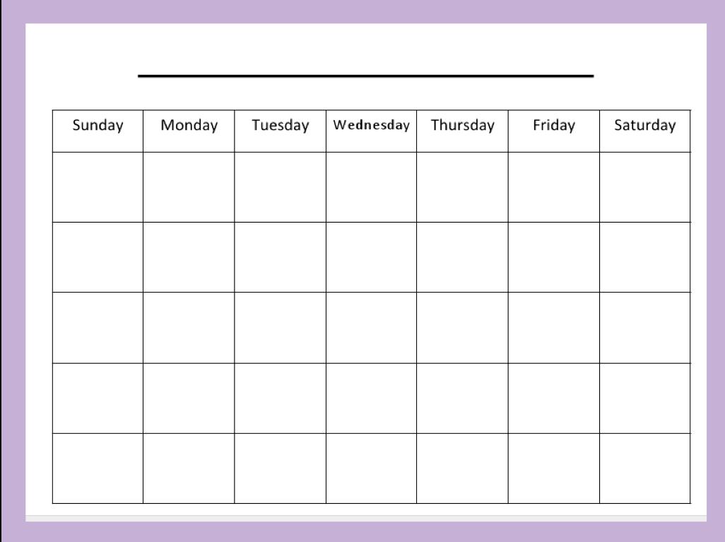 Free Blank Calendar Templates Smartsheet. Weekly Time 4 Week Calendar Printable