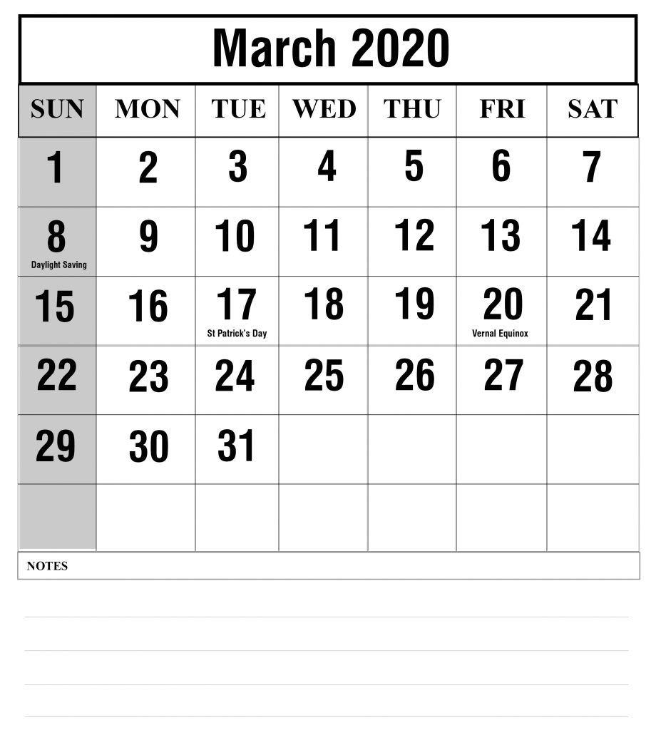 Free Blank March 2020 Fillable Calendar Template To Edit Free Calendar To Edit