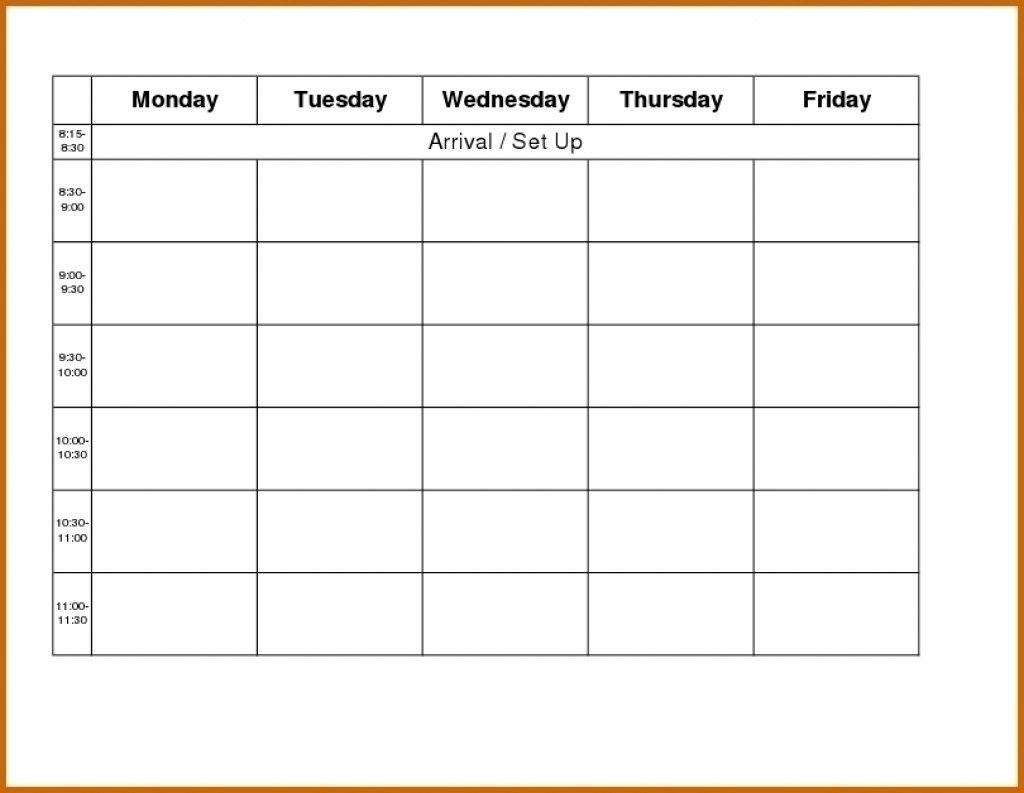 Free Blank Printable Monthly Calendar Monday – Friday Free Printable Monday-Friday Calendar
