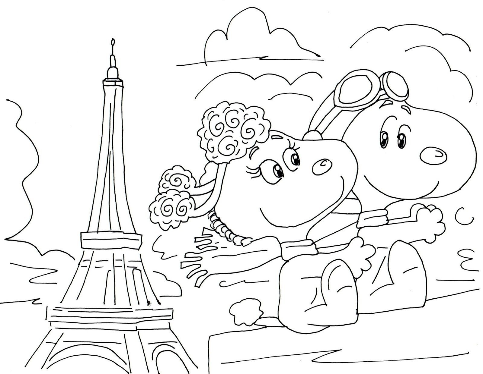 Free Charlie Brown Snoopy And Peanuts Coloring Pages: Fifi Free Printable Snoopy Images