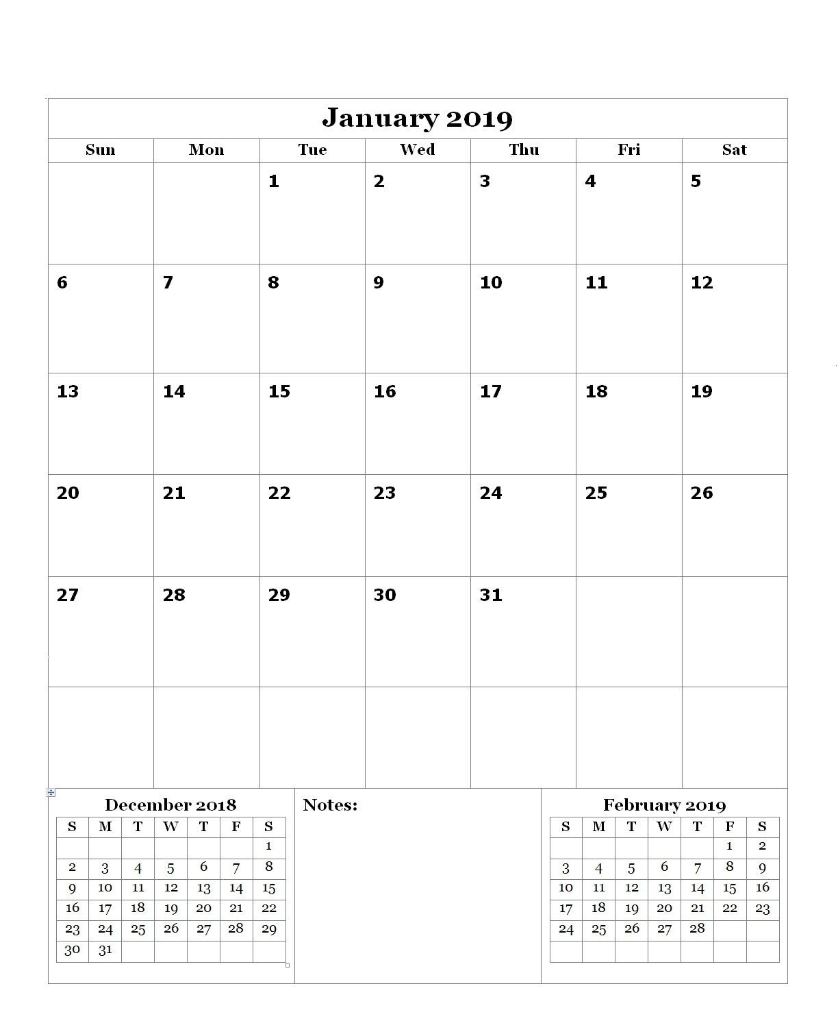 Free January 2019 Editable Calendar | Calendar, Calendar Free Calendar To Edit
