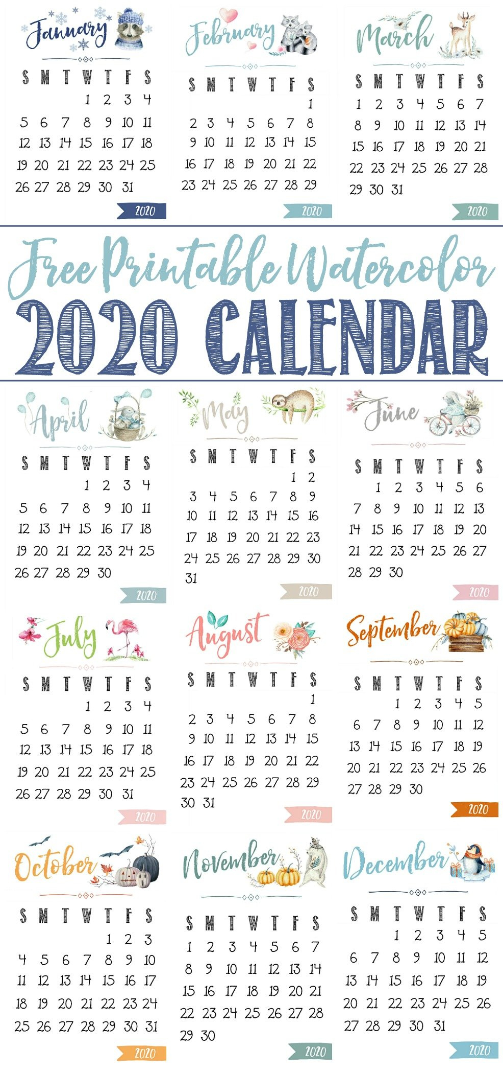 Free Printable 2020 Calendar - Clean And Scentsible Small Calendar Page To Print For Desk
