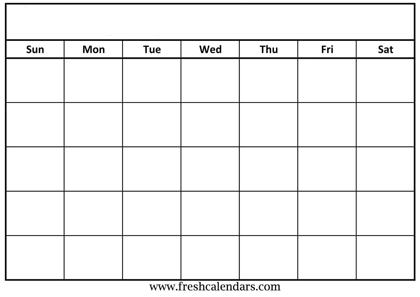 Free Printable Blank Calendar 2020 Free Calendars To Fill Out And Print