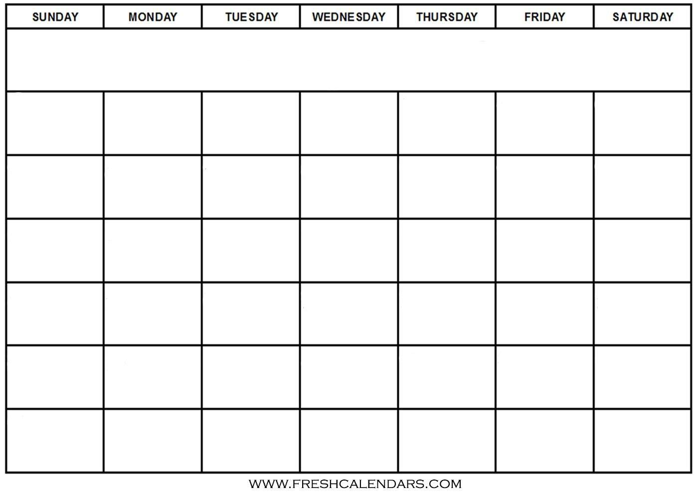 Free Printable Blank Calendar 2020 Free Printable Calendar Fill In