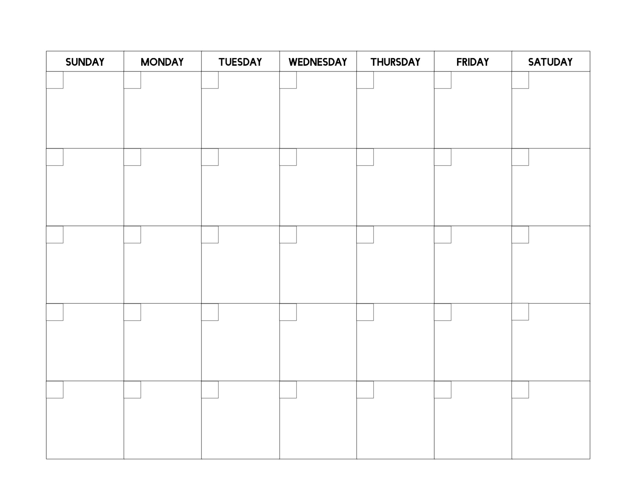 Free Printable Blank Calendar Template - Paper Trail Design Free Printable Calendar Fill In
