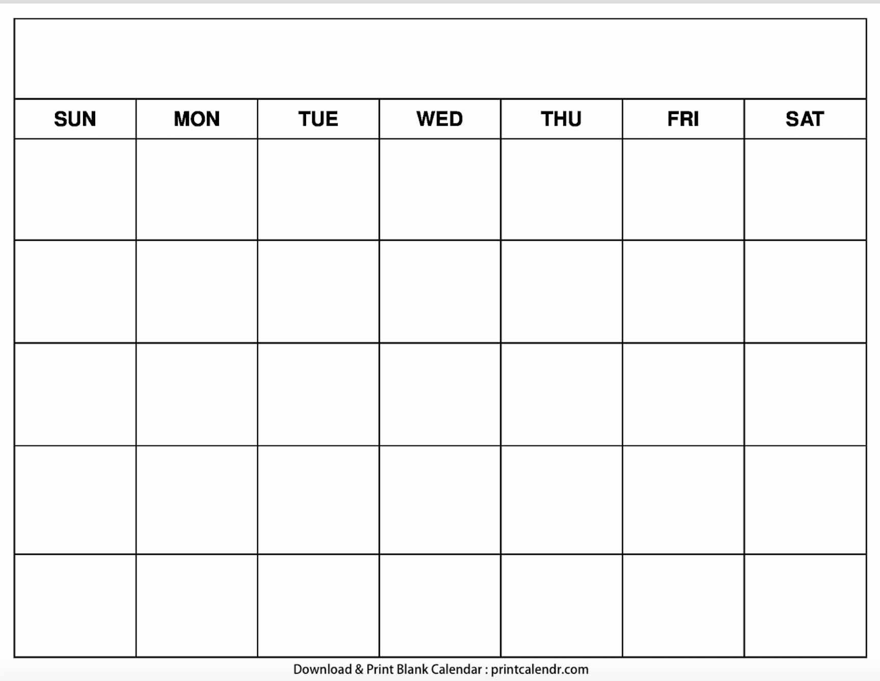 Free Printable Blank Calendars - Print Calendr Blank Calendar I Can Edit And Print
