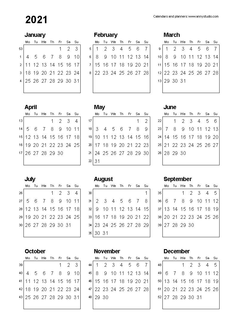 Free Printable Calendars And Planners 2020, 2021, 2022 Free Printable Calendars 8 Week