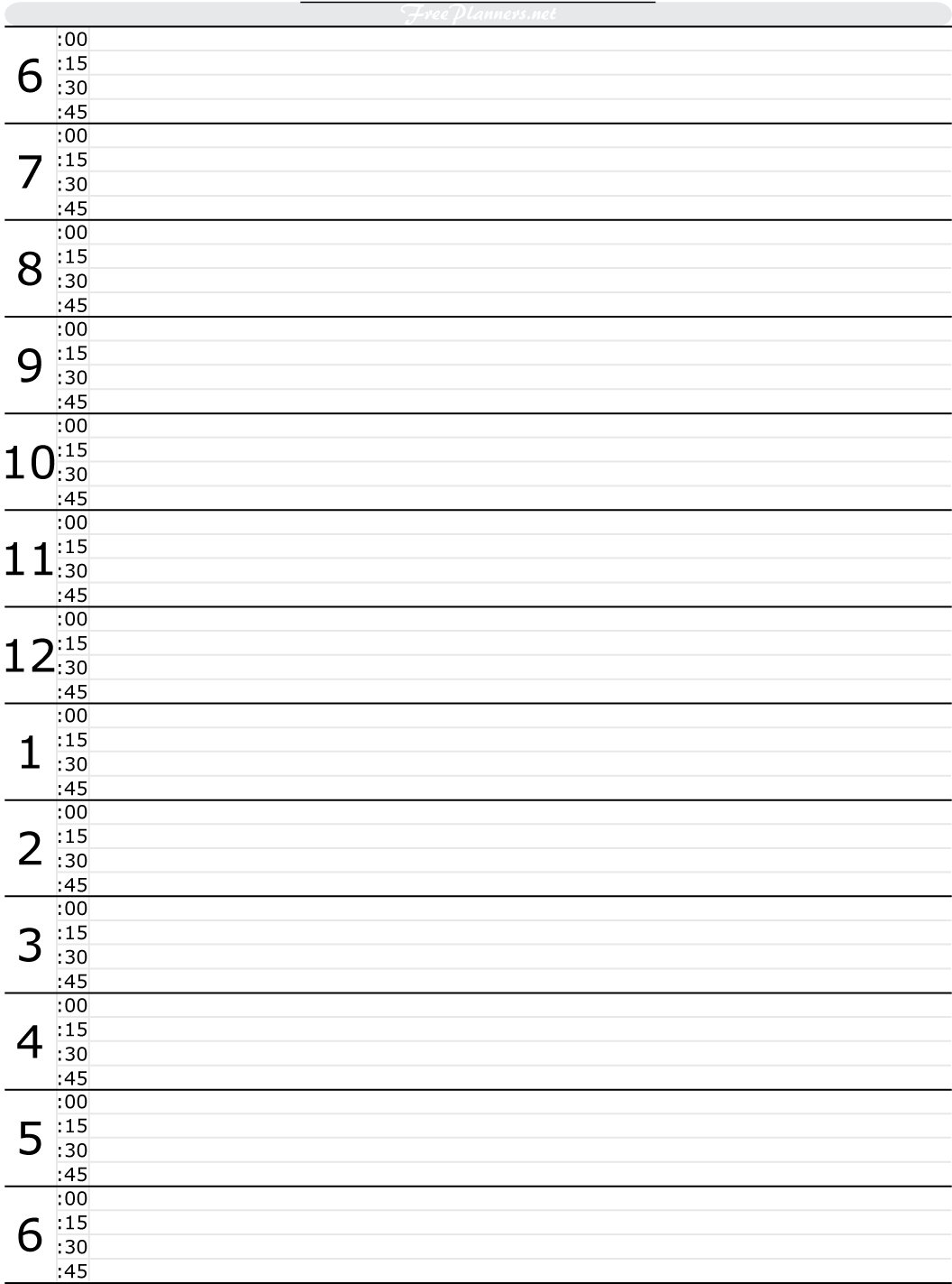 Free Printable Hourly Daily Planner | Free Daily Planner Free Printable 24 Hour Daily Calendar