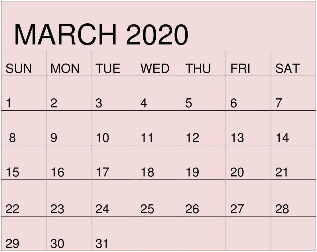 Free Printable March 2020 Calendarmonth Template - Free Aol Free Printable Calendar