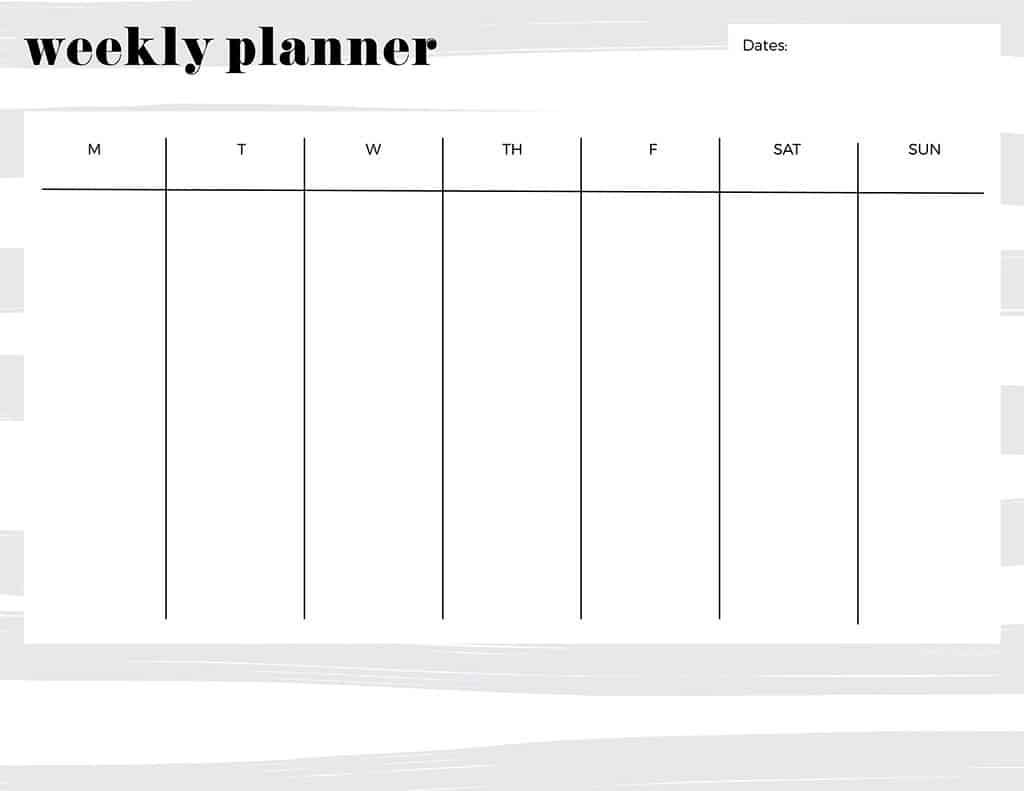 Free Printable Weekly Calendars — Get Your Week Organized! Printable One Week Calendar Free