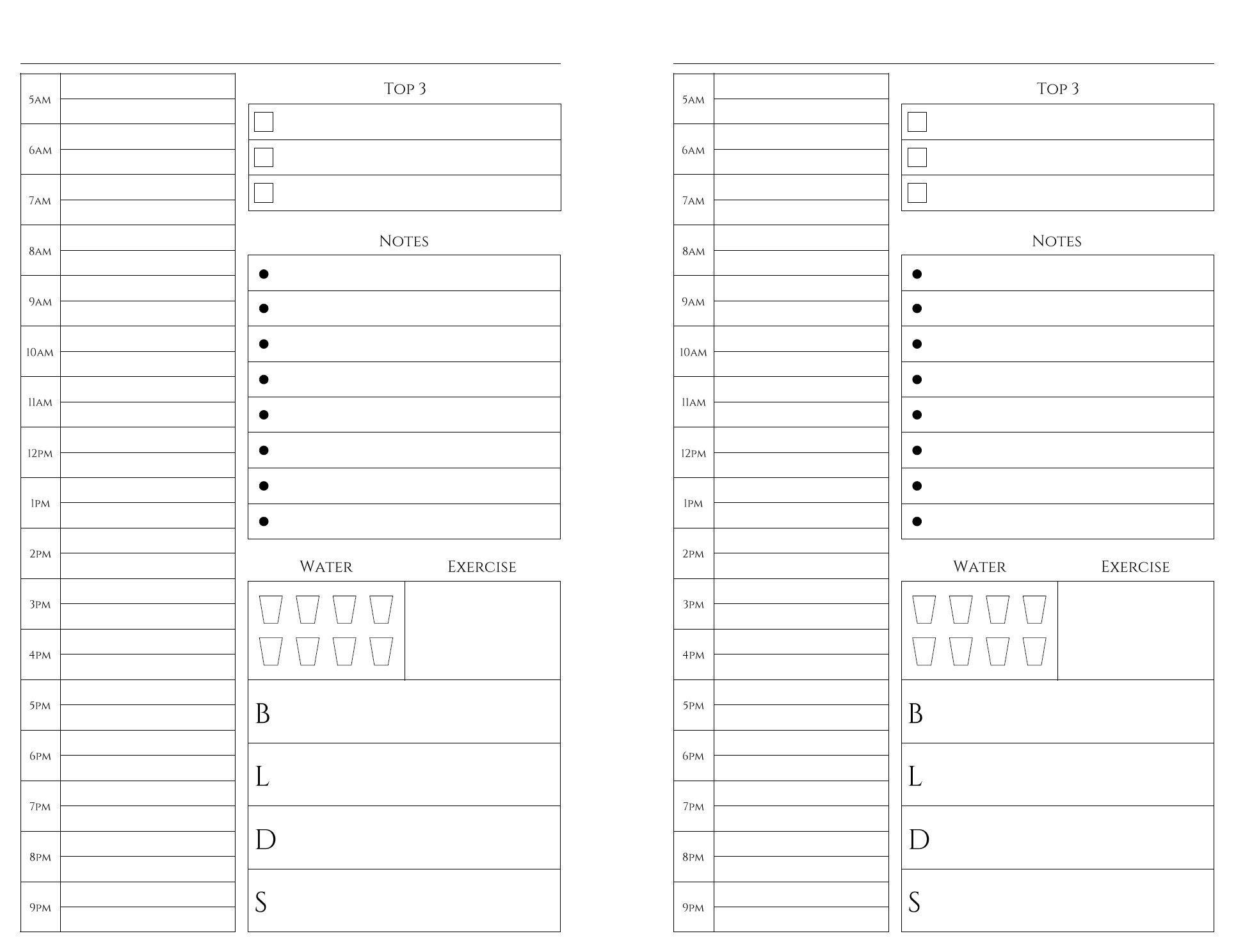 Free Printables | Weekly Planner Printable, Daily Planner Daily Planner Printable Editable Free 8.5 X 5.5