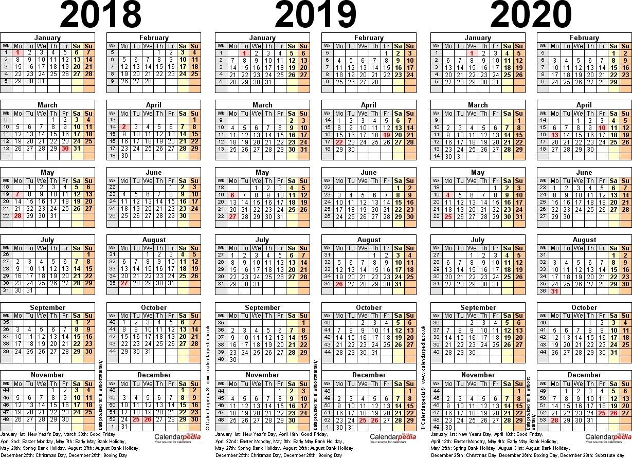 Fresh Printable Multi Year Calendar Printable Multi Year Calendars On One Page