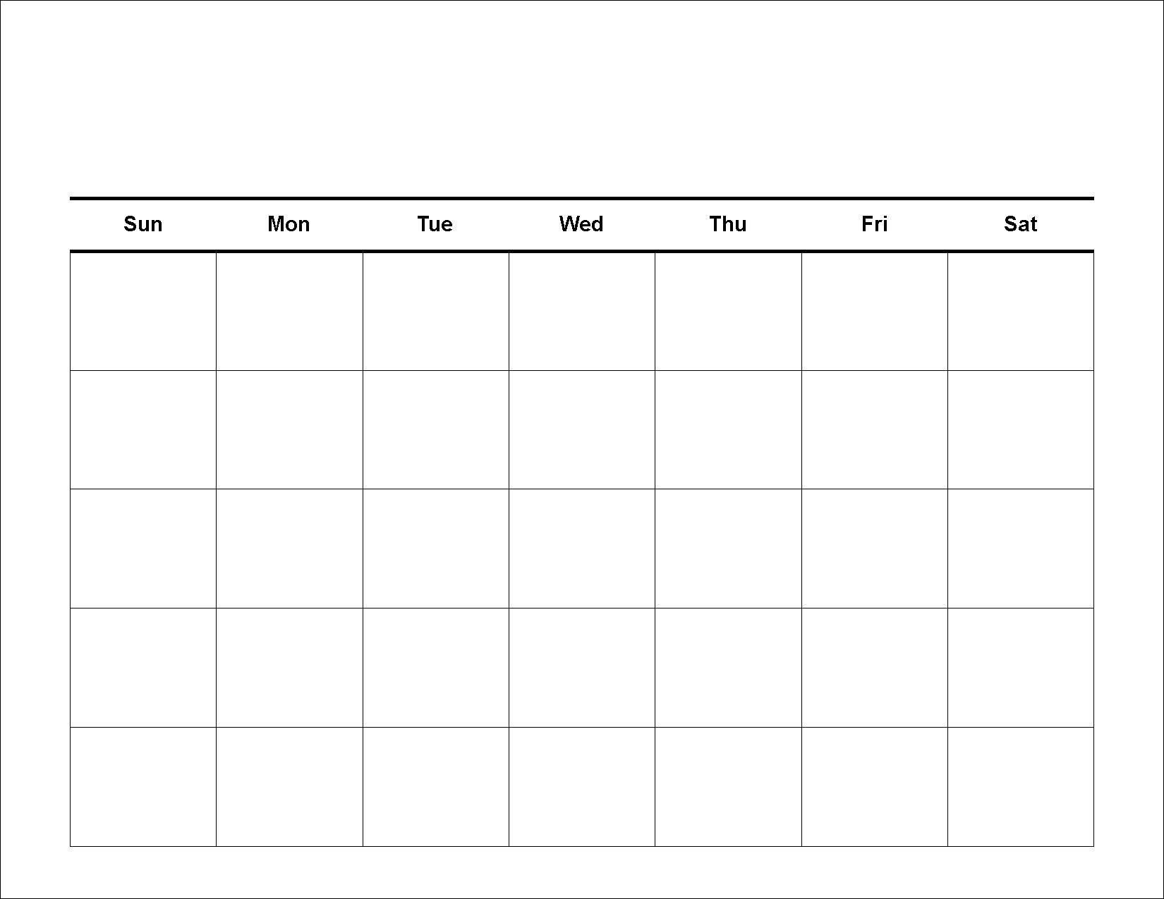 Get 30 Day Calendar Blank Printable Template Pdf Download 30 Day Blank Printable
