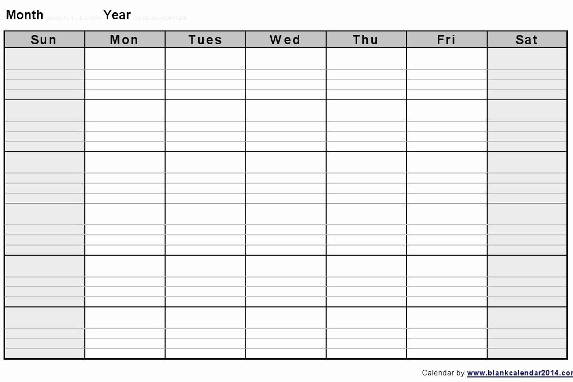 Get Blank 2 Week Printable Calendar (With Images) | Blank Print A 2 Week Calendar