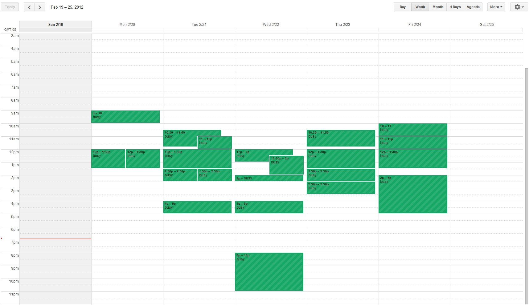 How Can I Create A Weekly Calendar View For An Android How To A Make A Two Week Schedule