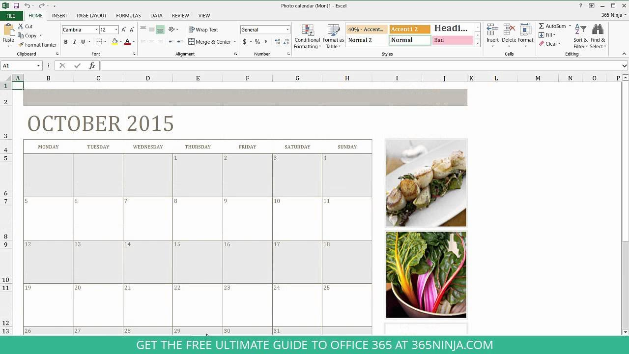 How To Create A Calendar In Excel A Calendar That I Can Edit