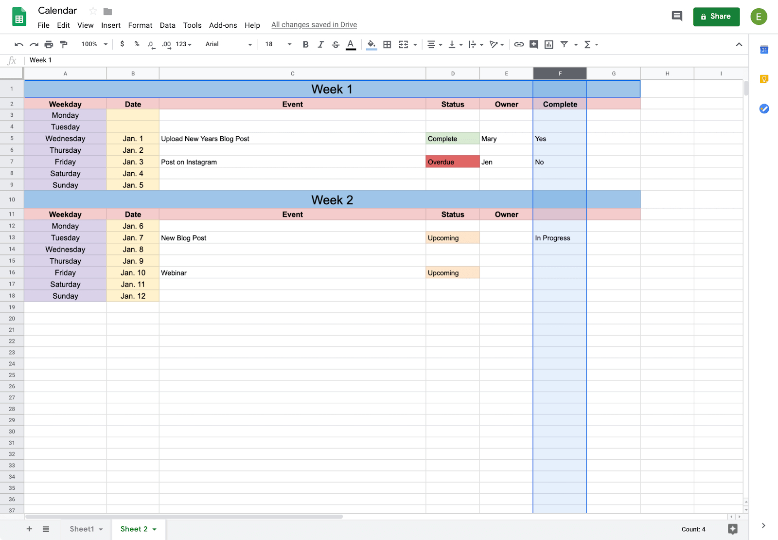 How To Create A Calendar In Google Docs | Copper Google Spread Sheet Template Clender
