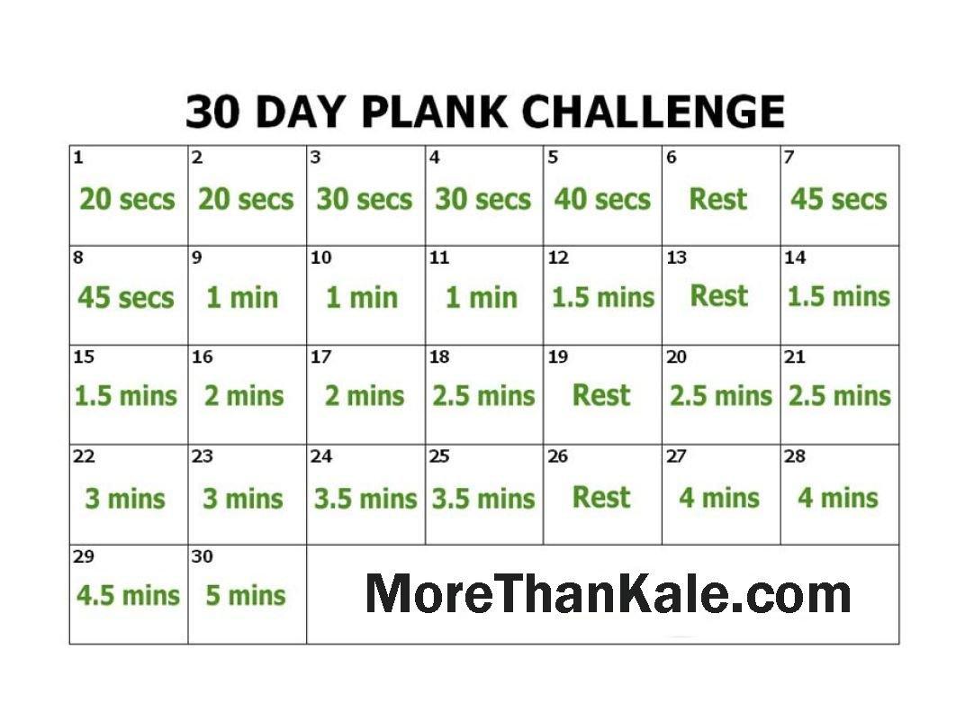 Innovative 30 Day Plank Challenge Printable Pdf Calendar Plank 30 Day Challenge Excel