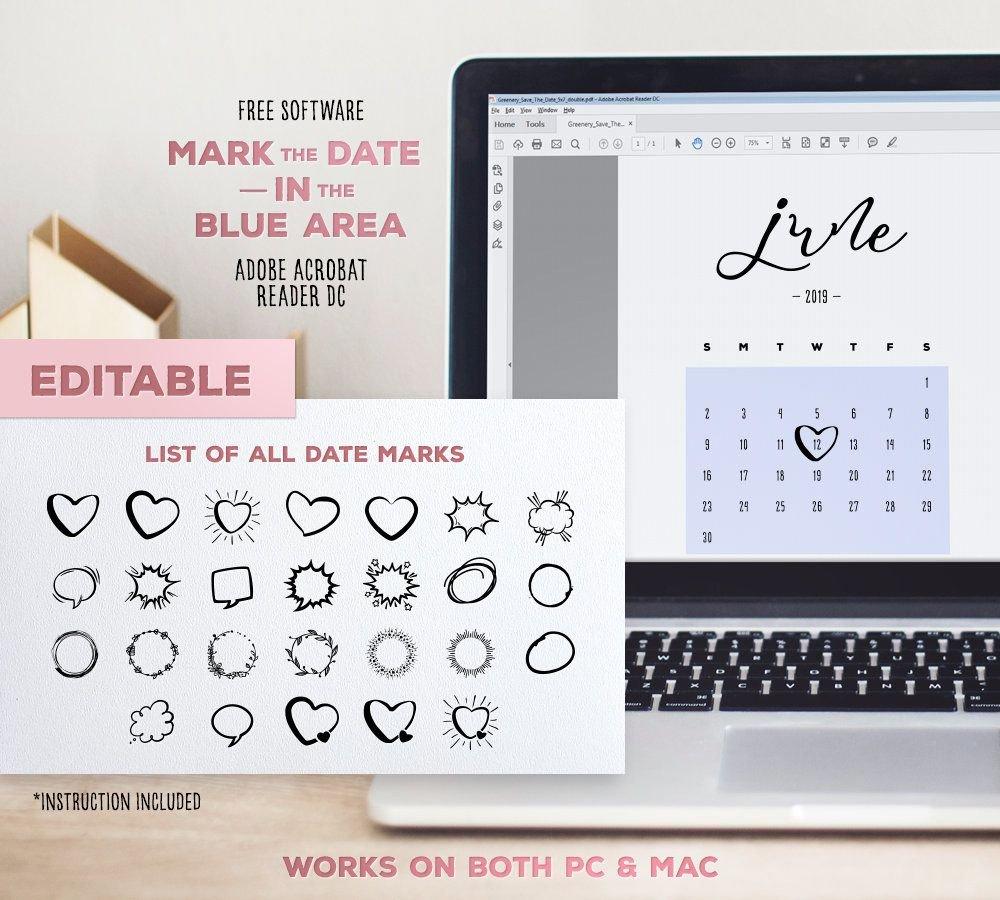 June 2019 Baby Due Date Calendar Template Editable | Etsy Due Date Calendar Printable