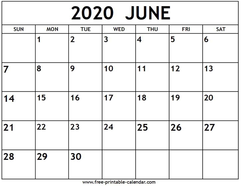 June 2020 Calendar - Free-Printable-Calendar Free No Download Printable Calendars