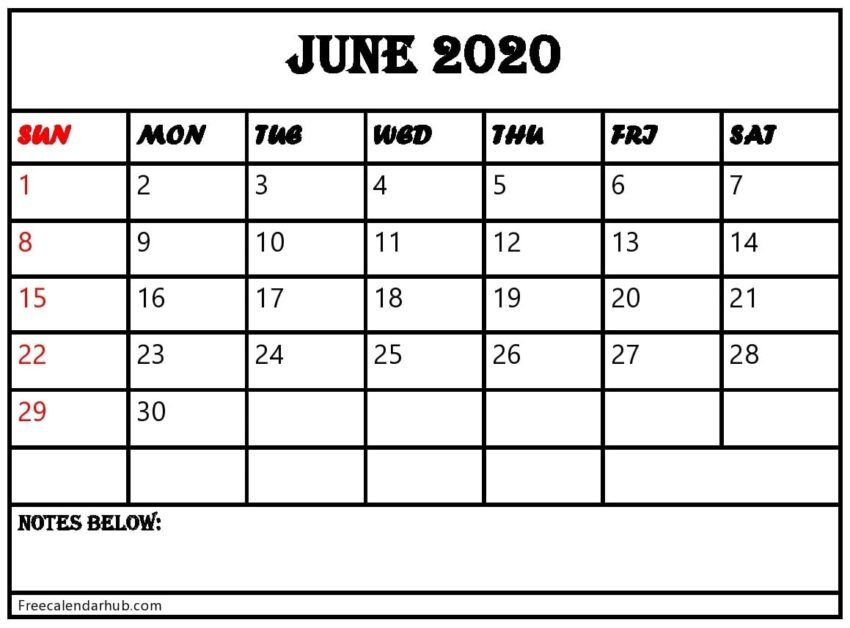 June 2020 Calendar Printable- Edit & Print As Many As You Want! Calendar That I Can Edit