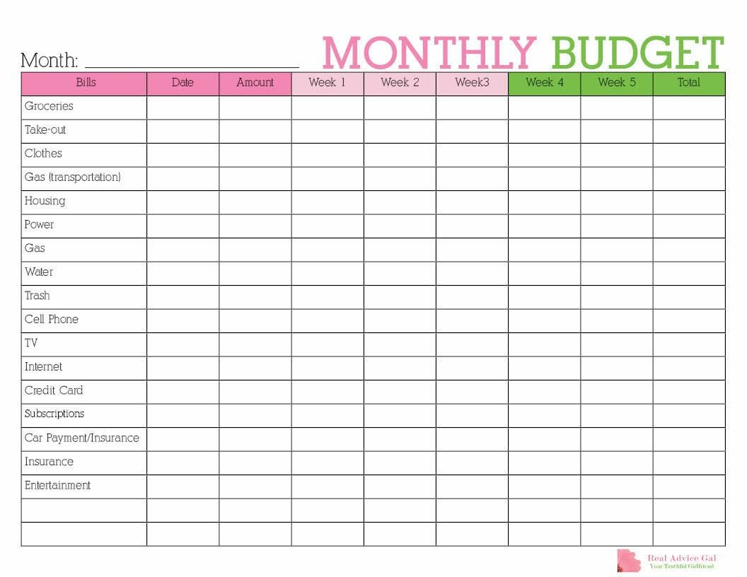 Keep Track Of Your Monthly Expenditures With This Free Free Printable Monthly Budget Calendar