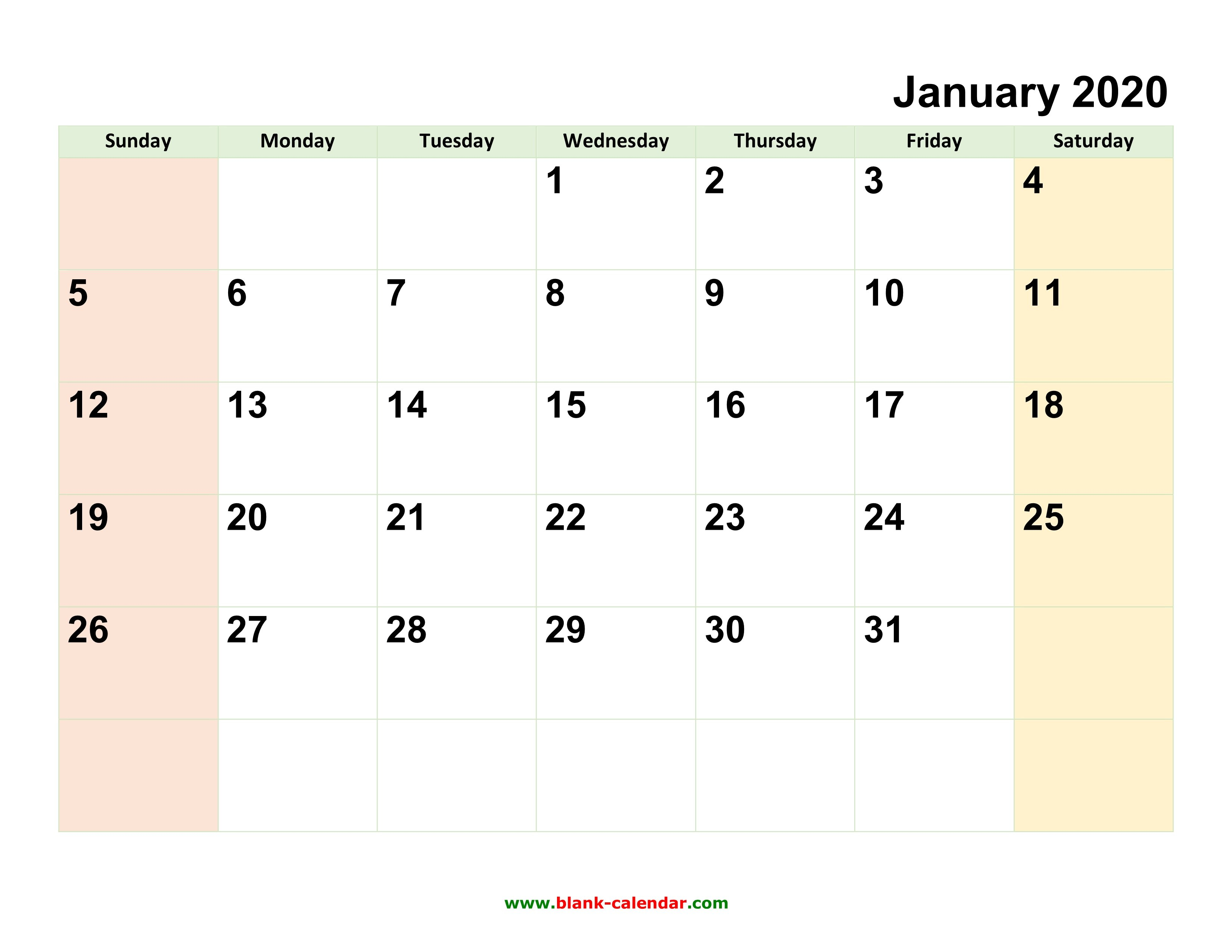 Monthly Calendar 2020 | Free Download, Editable And Printable Calendar That Can Be Edited