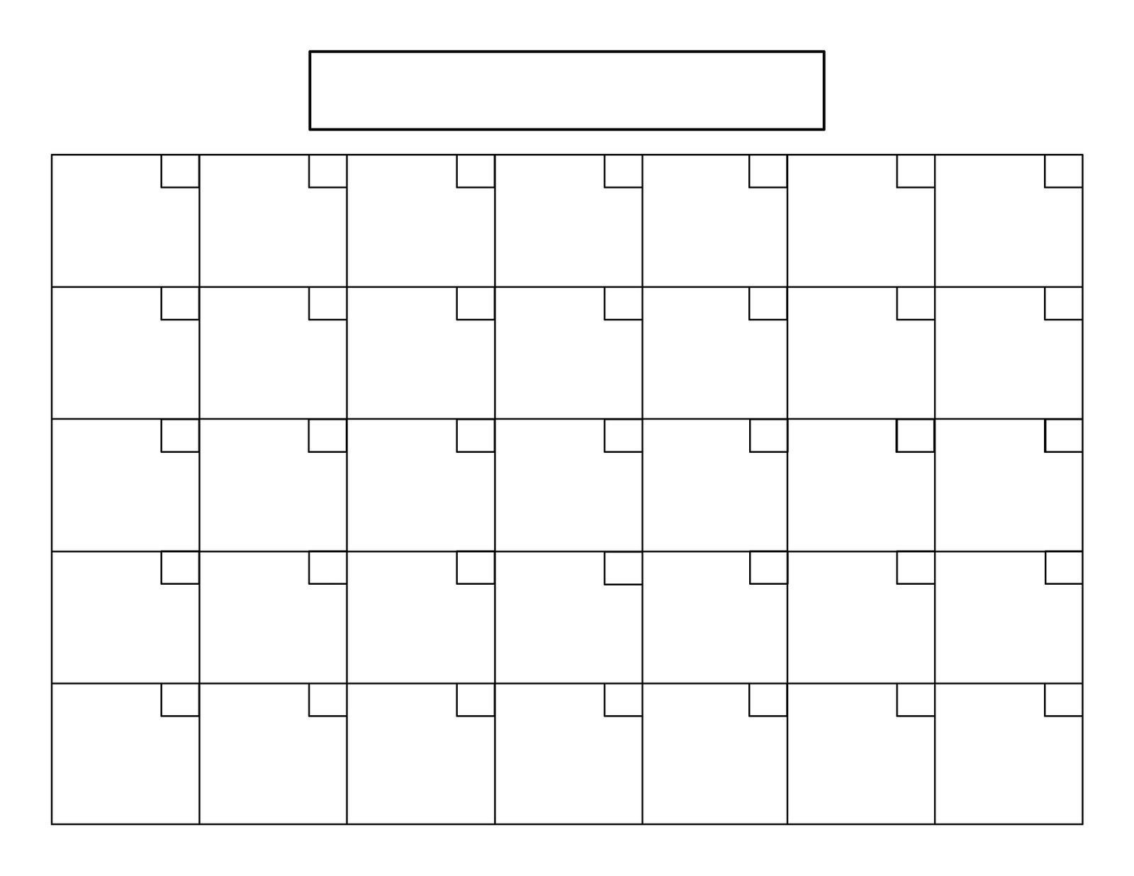 Perpetual Calendar Tutorial | Blank Calendar Template 31 Day Calendar Printable