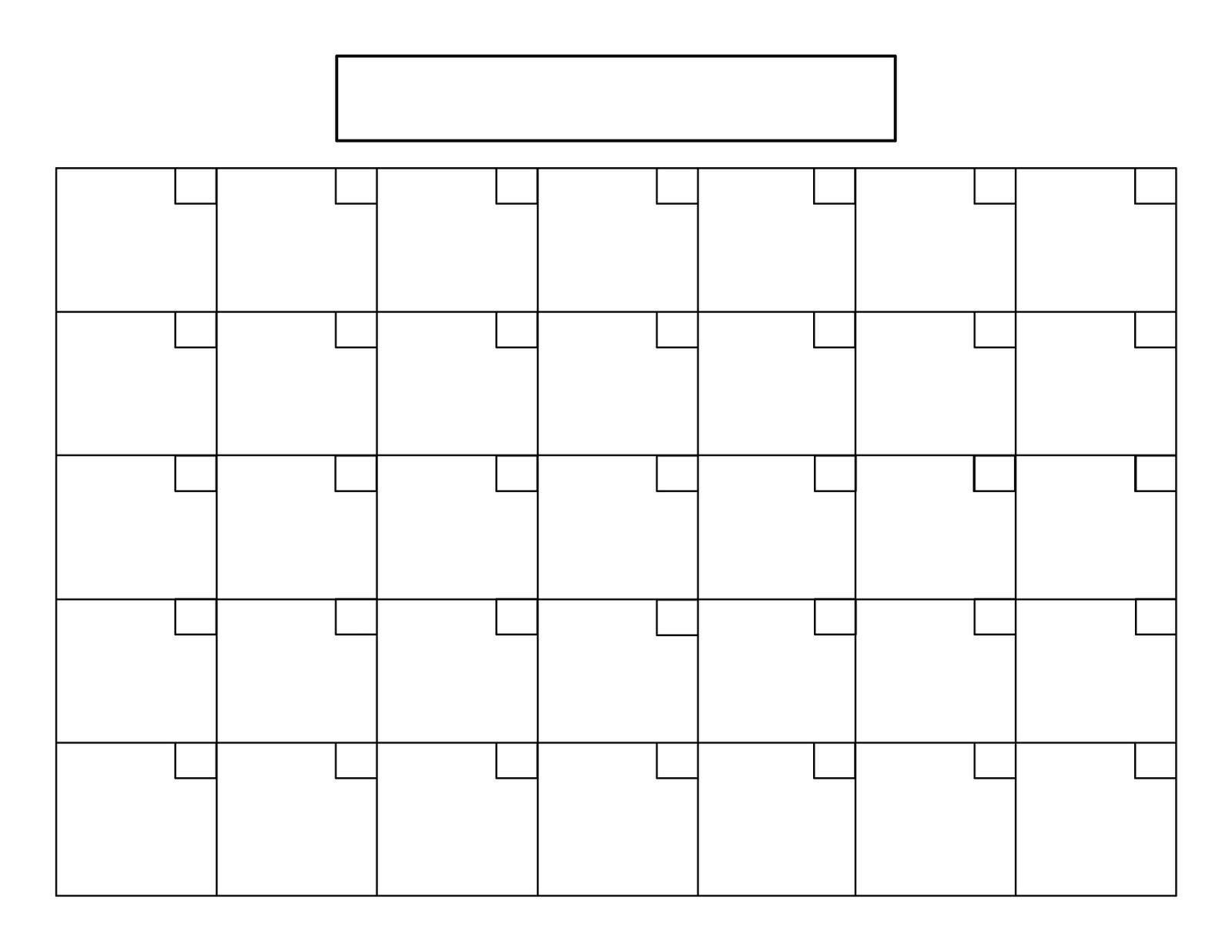 Perpetual Calendar Tutorial | Blank Calendar Template 31 Day Calendar Templates