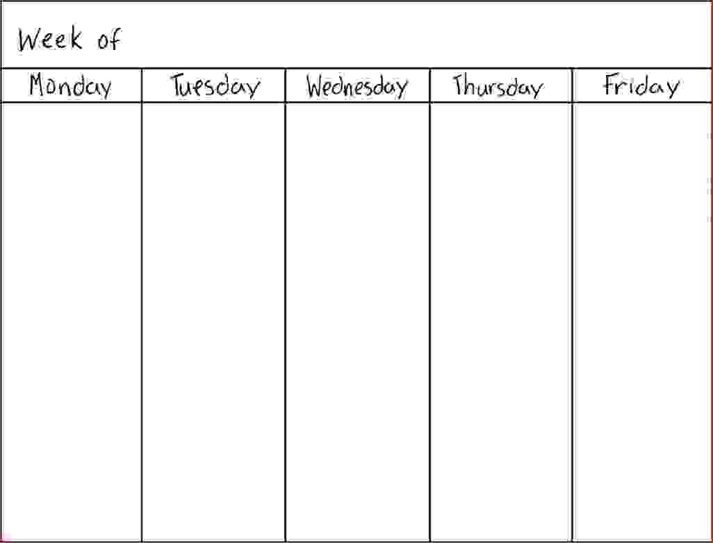 Pin On Lesson Planner Blank 7 Day Calendar Template