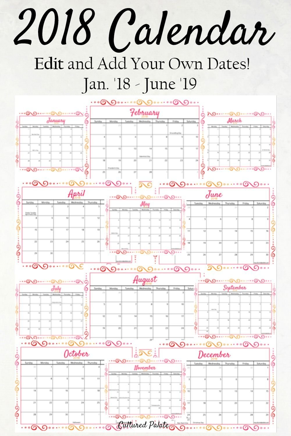 Pin On Monday Mania Calendar That I Can Edit