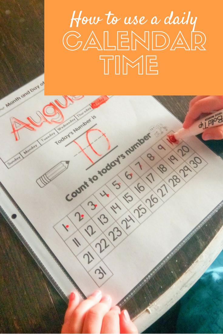 Preschool-2Nd Grade Calendar Time | Calendar Time, Preschool 6 Month Short Timer Calandr