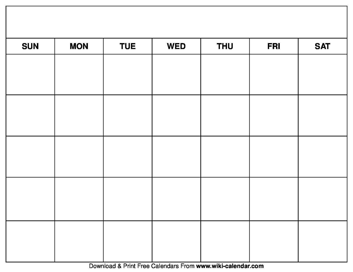 Printable Blank Calendar Templates Blank Calendar To Fill In