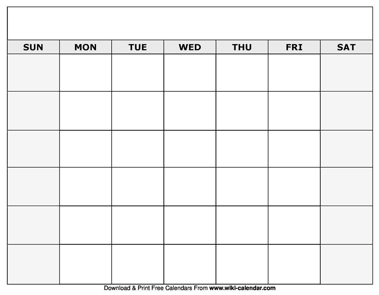 Printable Blank Calendar Templates-Fill In Blank Calendar Fill In Blank Calendar Templates