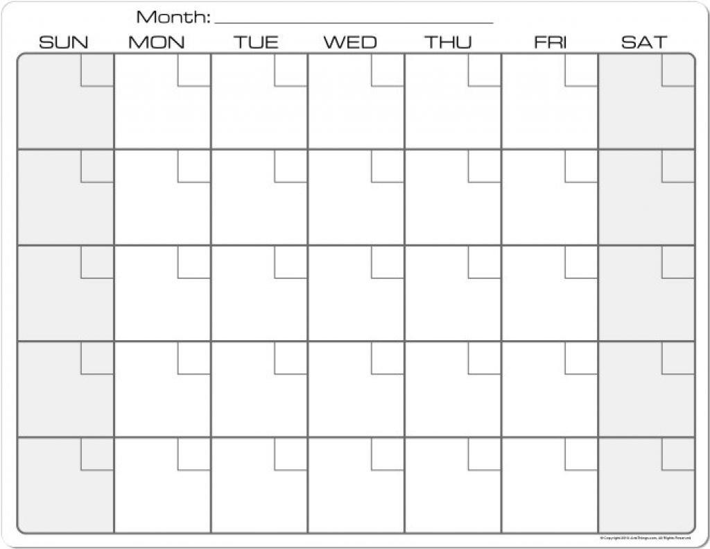 Printable Calendar 8 X 11 | Printable Calendar 2019-8.5 X 11 8X11 Printable Monthly Calendar
