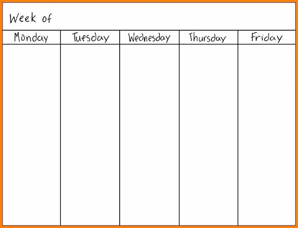 Printable Calendar Monday Through Sunday | Printable-Blank Monday Thru Sunday Template