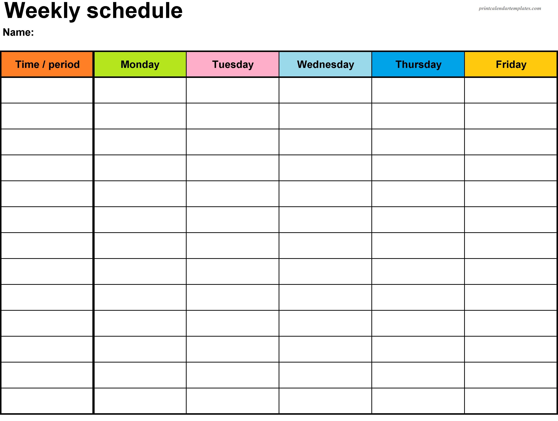 Printable Weekly Planner Template | Weekly Planner Printable Printable One Week Calender