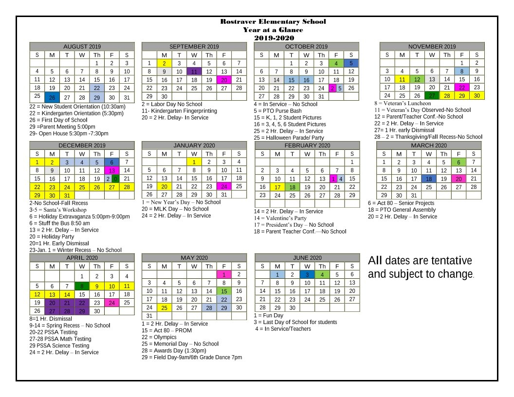 Res Year At-A-Glance Calendar Hr Calendar For The Year