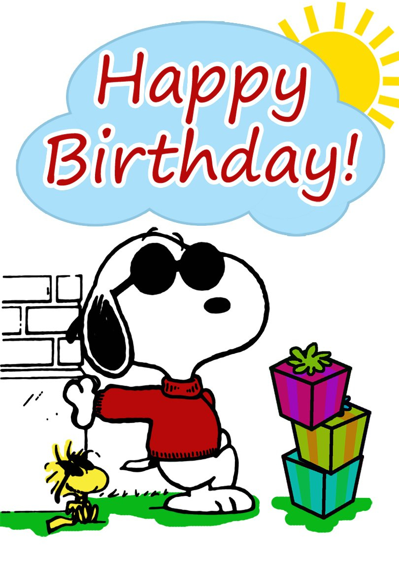 Snoopy Birthday Card | Free Printable Birthday Cards Free Printable Snoopy Images