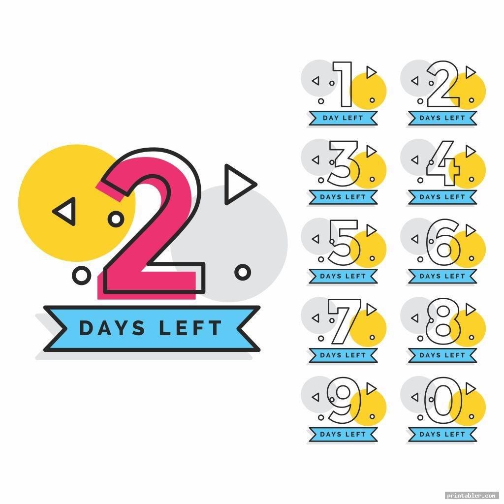 Tear Off Countdown Calendar Printable - Printabler Printable Tear Off Calendar
