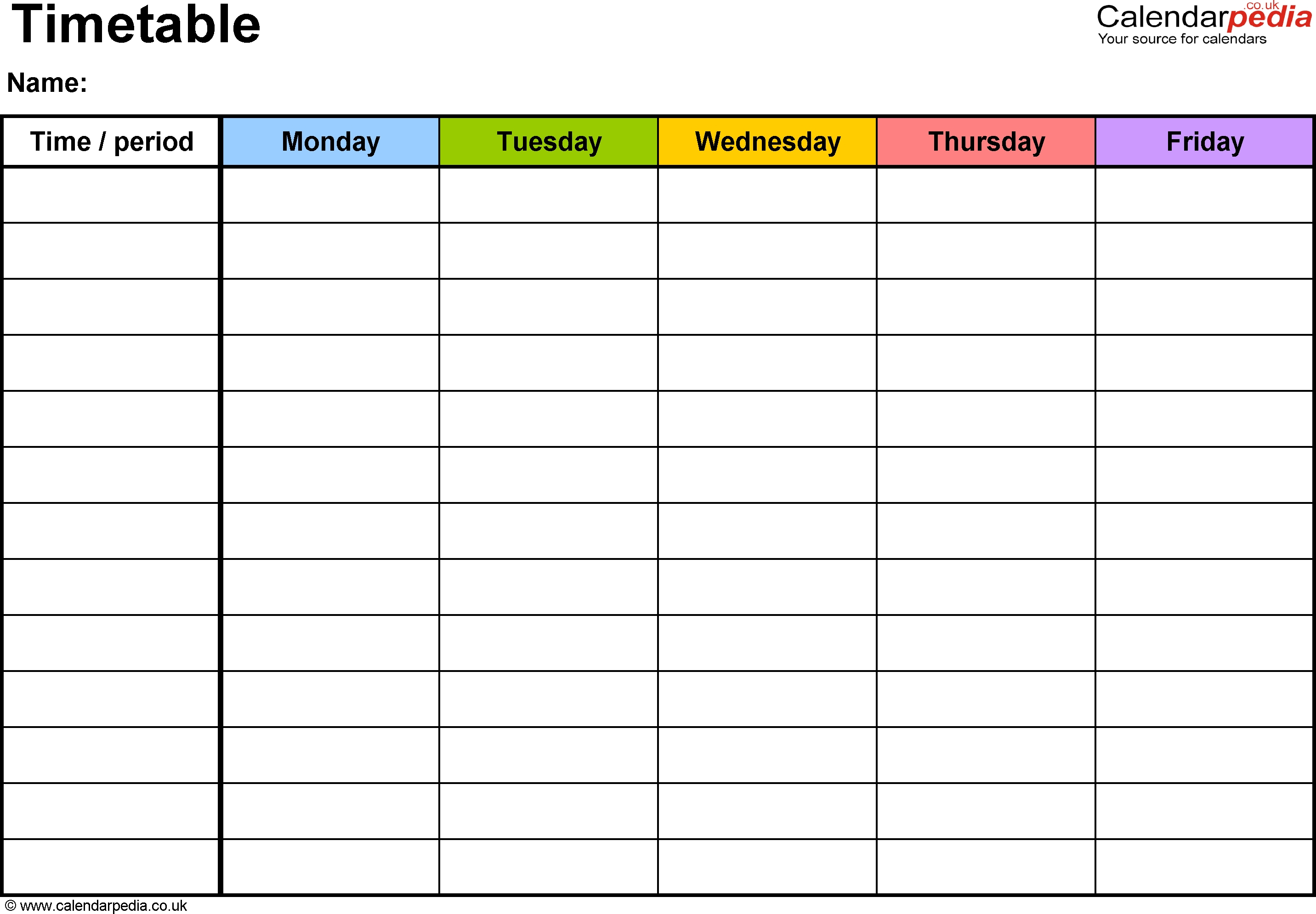 Template Monday To Friday | Calendar Template Printable Calendar Monday - Friday Template