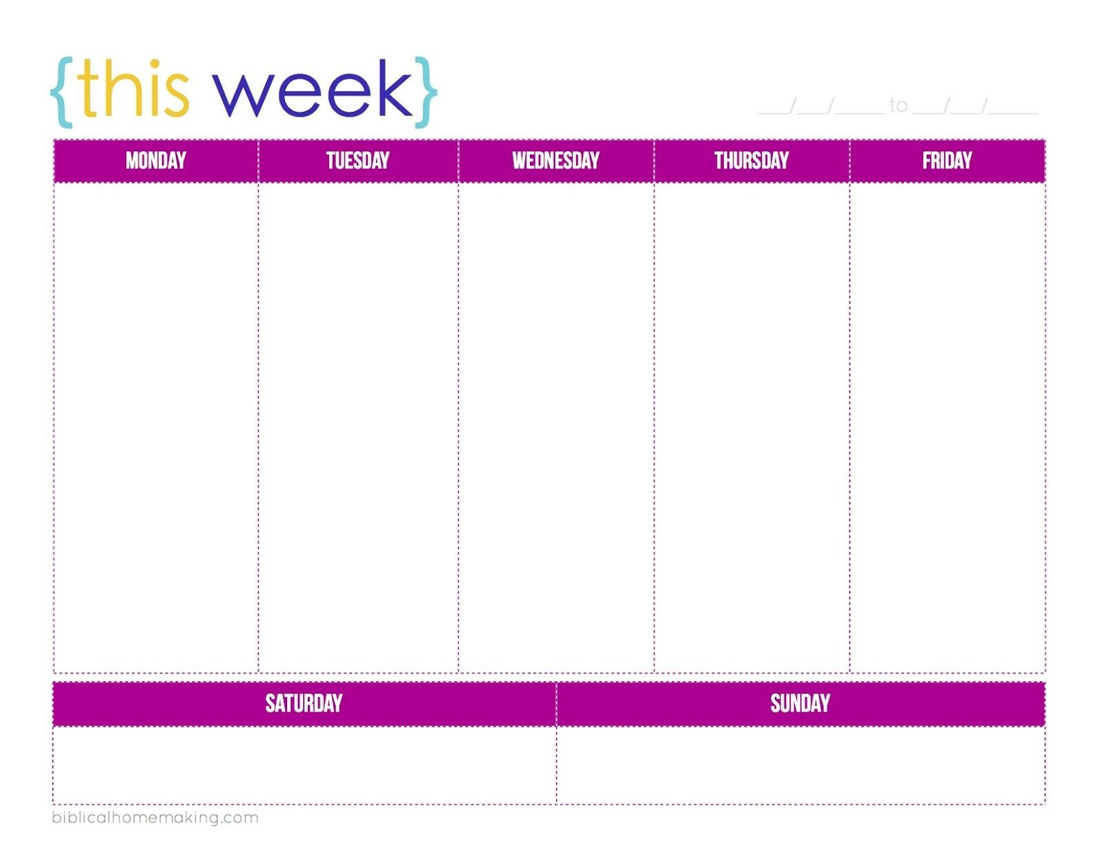 This Week} :: A Free Weekly Planner Printable | Weekly Printable One Week Calender