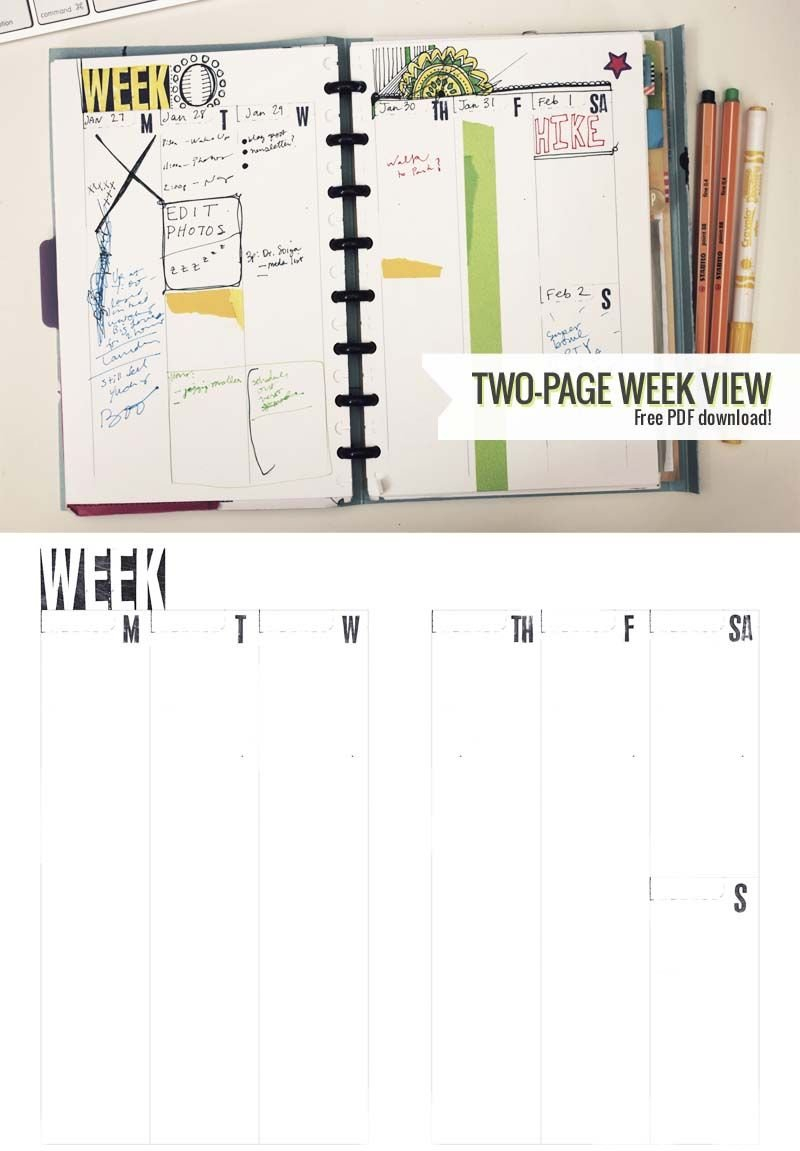 Two-Page Week, 5.5 X 8.5 – Diy Planner Template | Printable Daily Planner Printable Editable Free 8.5 X 5.5