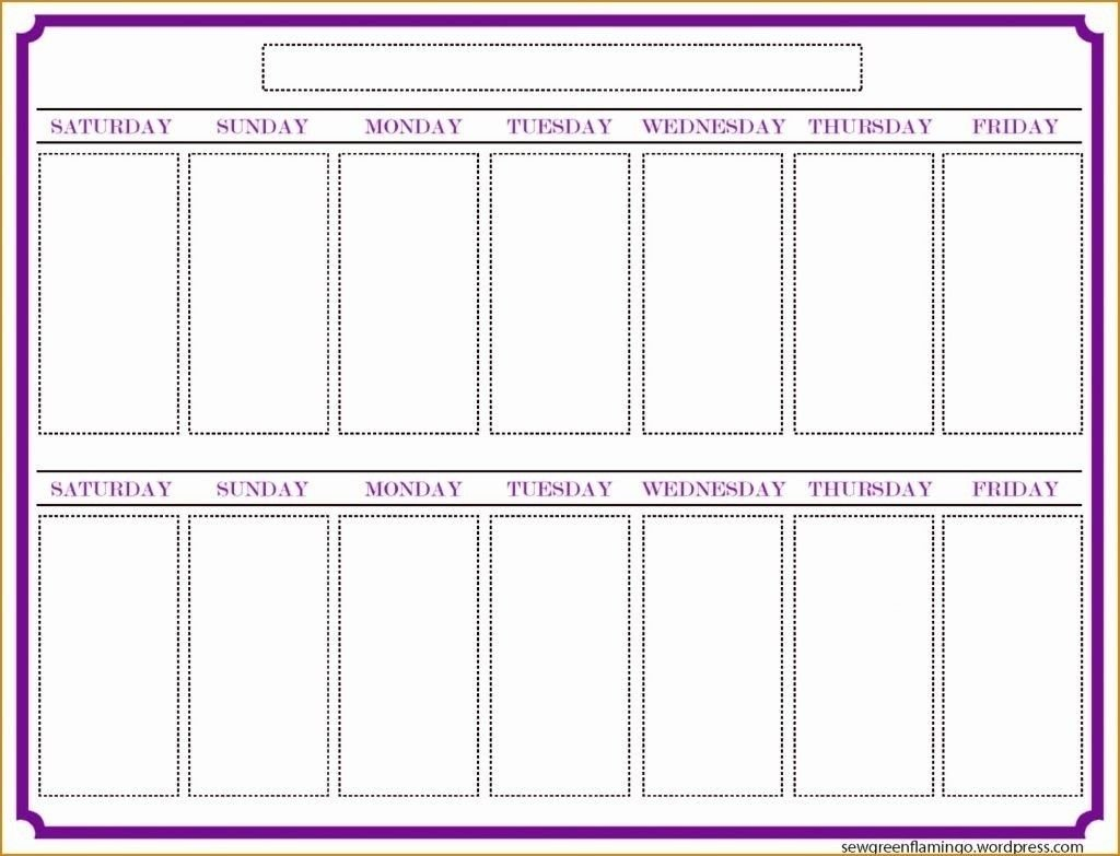 Two Week Blank Calendar Template | Holidays Calendar Two Week Printable Calendar
