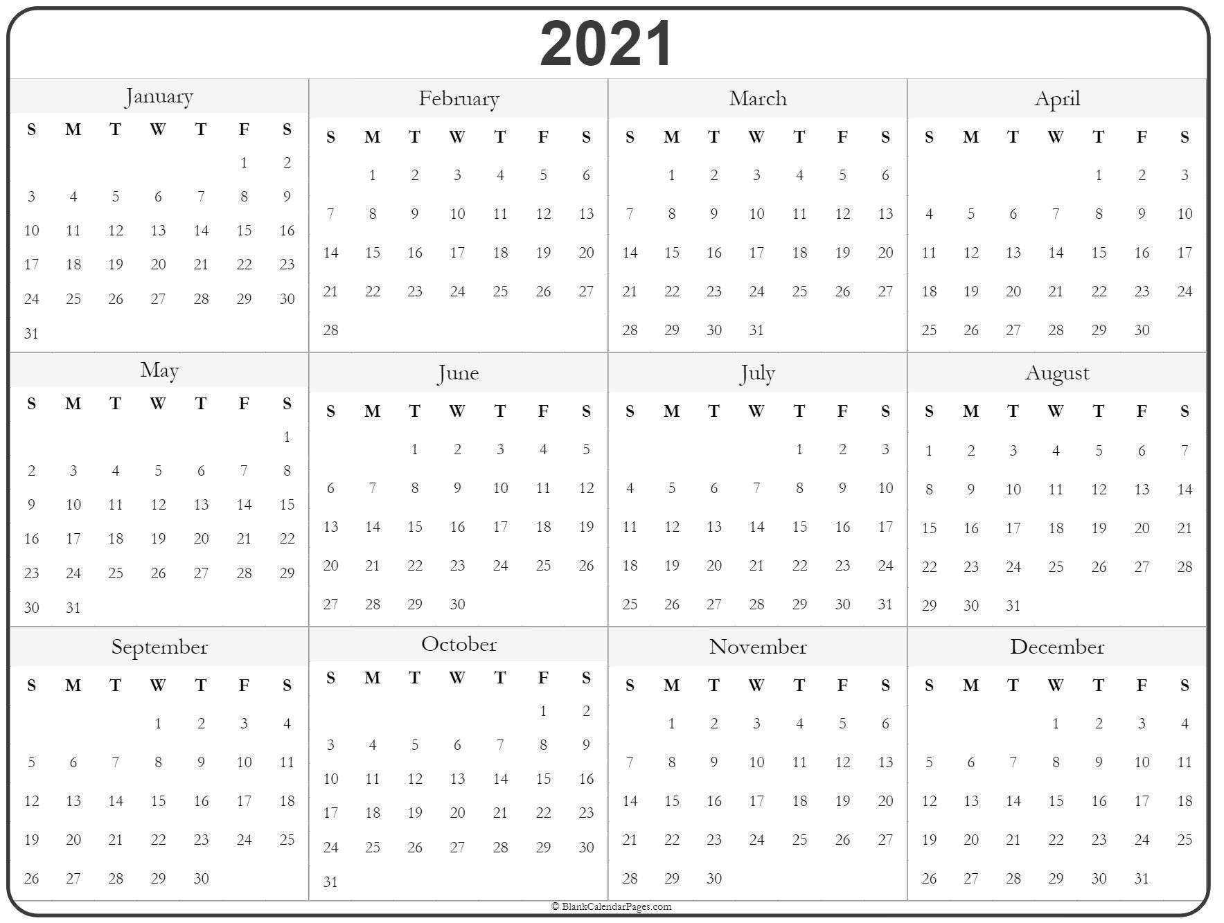 Universal Print Online Calendar 2021 Blank Di 2020 Fre Fill In Online Calendars