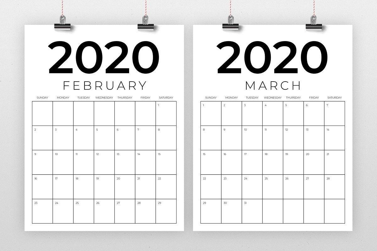Vertical 8.5 X 11 Inch 2020 Calendar 8.5 X 14 Calendar