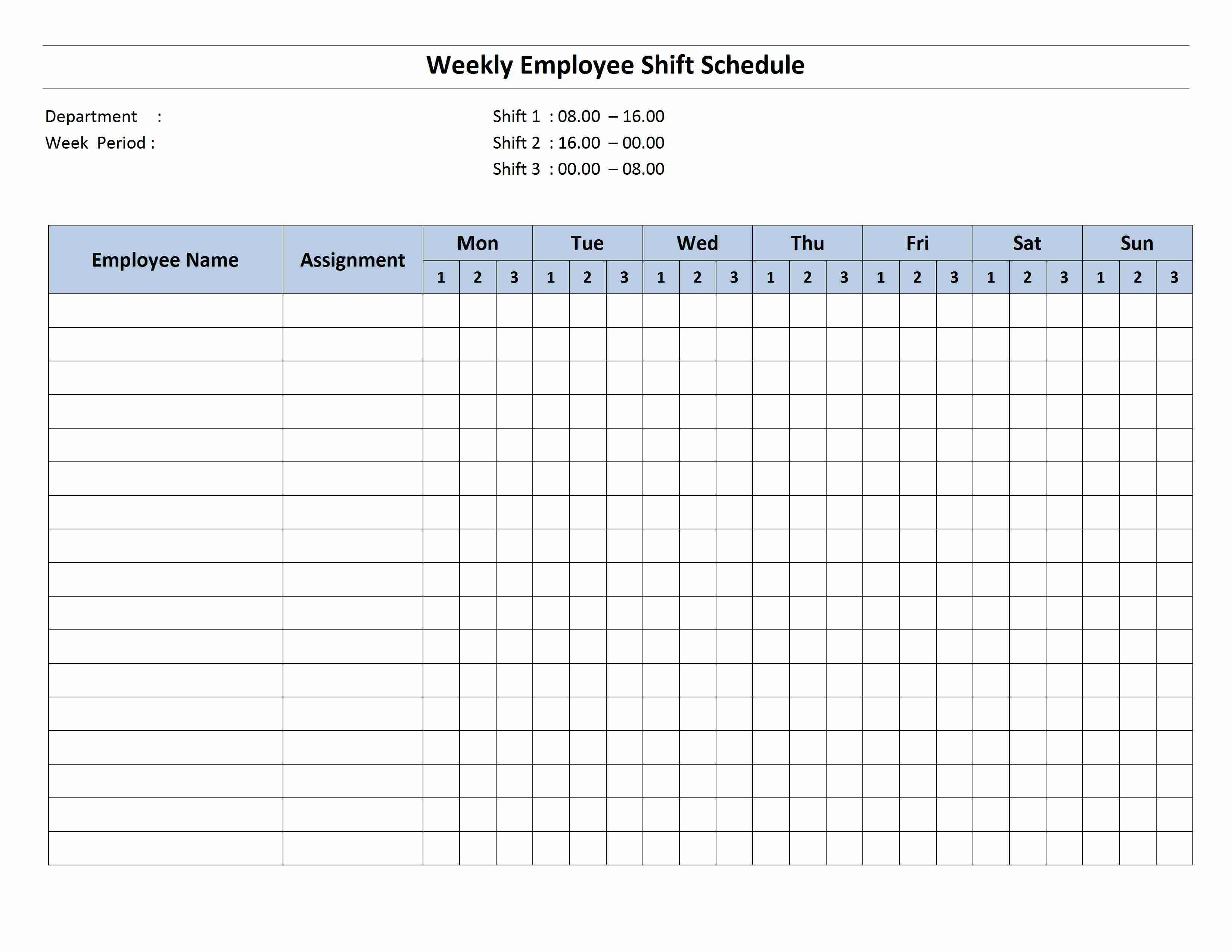 Weekly 8 Hour Shift Schedule (With Images) | Cleaning Eight Week Calendar Template