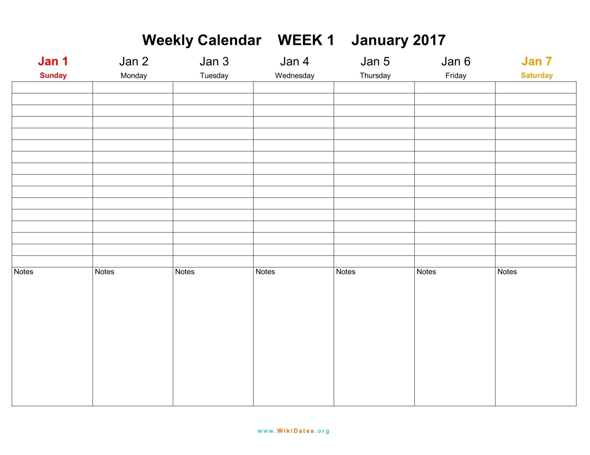 Weekly Calendar - Download Weekly Calendar 2017 And 2018 4 Week Calendar Printable
