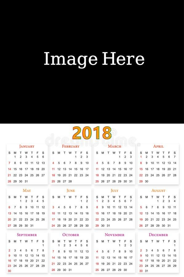 12 Months Calendar Design 2019-2020 Stock Vector 12 Months Calendar Editable